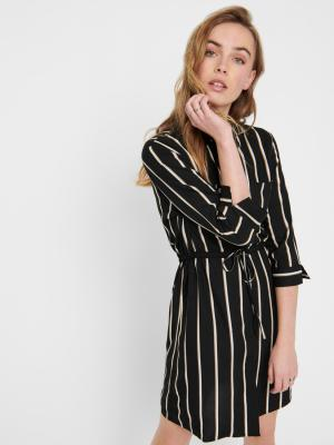 ONLTAMARI 3-4 SHIRT DRESS WVN 177911001 Black