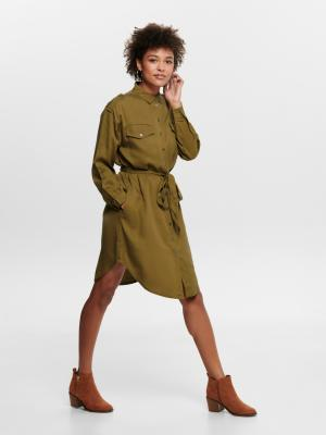 ONLUNA OVERSIZED SHIRT DRESS W 205371 Tapenade