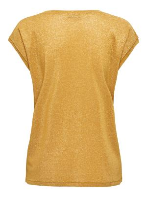 ONLSILVERY S-S V NECK LUREX TO 217831 Golden Y