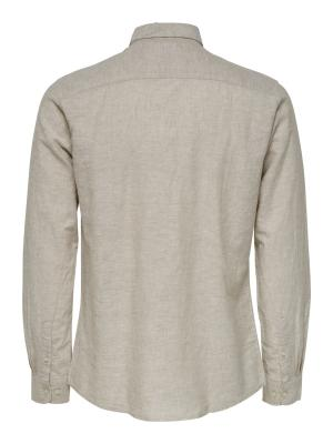ONSCAIDEN LS SOLID LINEN SHIRT 202231 Chinchil