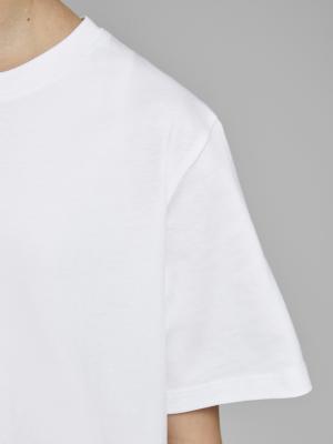 JJEORGANIC BASIC TEE SS O-NECK 178074 White