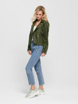 ONLGERRY FAUX SUEDE BIKER OTW 193783 Forest N