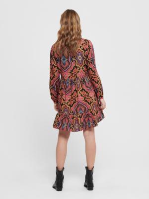 ONLBETTY L-S SHORT  DRESS WVN 194962001 Night