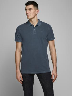 JJEJEANS WASH POLO SS CAMP 175876001 Navy