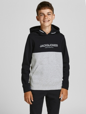 JJEURBAN BLOCKING SWEAT HOOD N 178012002 Black